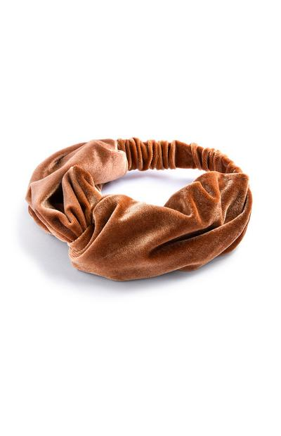 Velvet Brown Headband