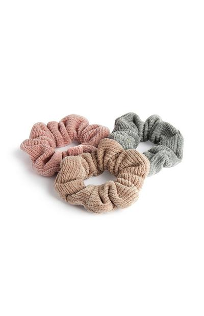 Supersoft Baby Blush Scunchies 3Pk