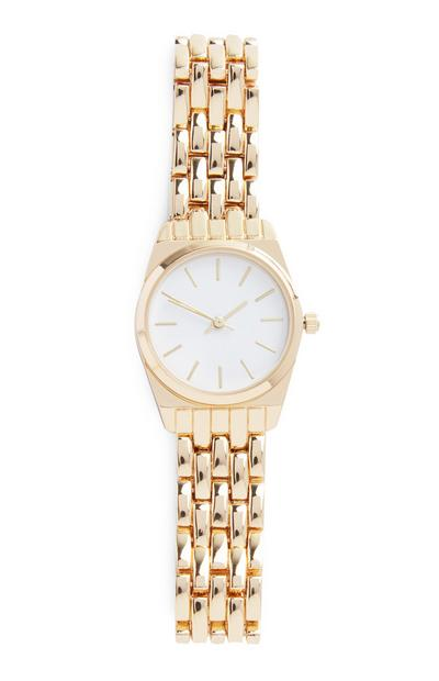Gold Chain Wrist Watch