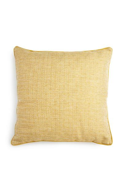 Yellow Textured Cushion
