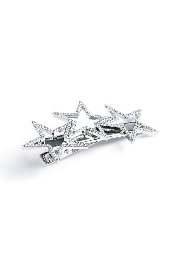 Silver Star Hairclip