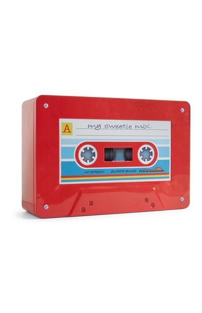 Retro Cassette Biscuit Tin