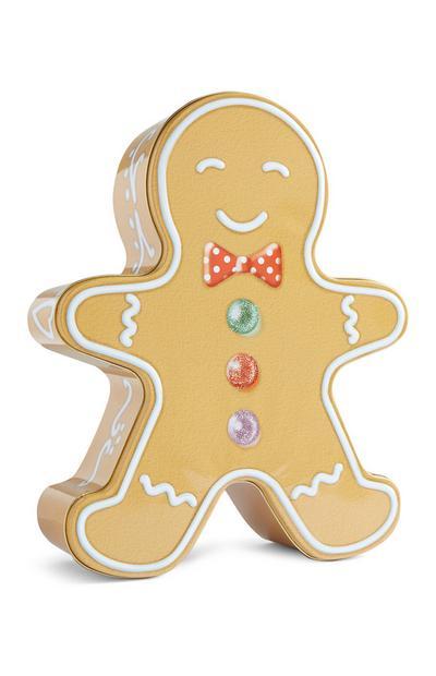 Gingerbread Man Biscuit Tin