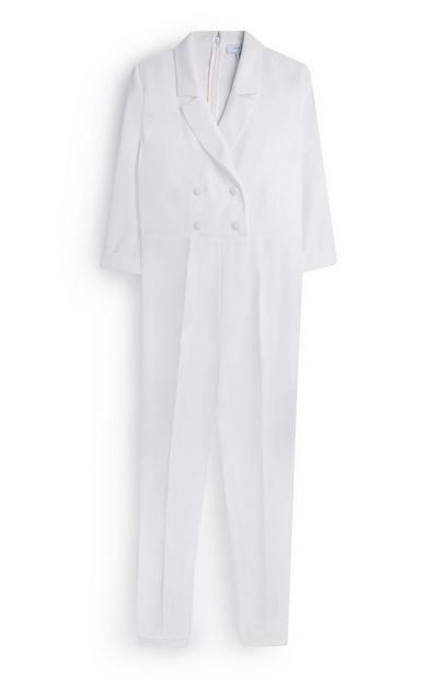 Ivory Tuxedo Jumpsuit