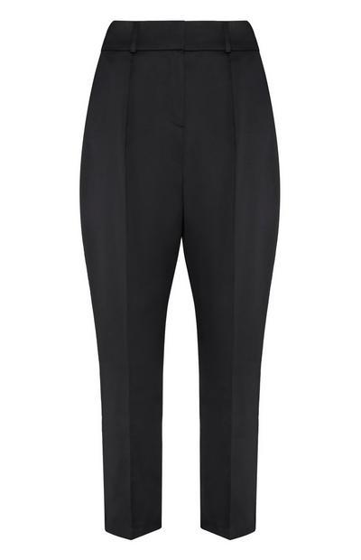 Black Lurex Peg Leg Trouser