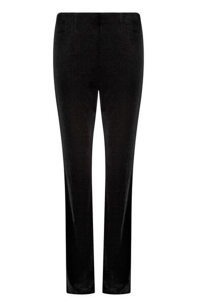 Black Velvet Flared Trouser