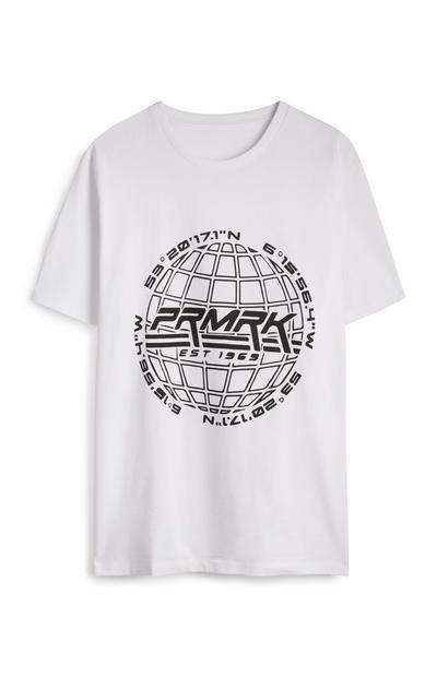 """Weißes """"PRMRK"""" T-Shirt"""