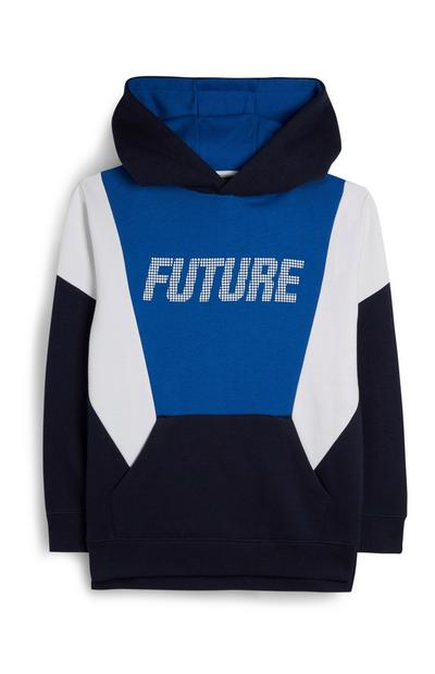 Older Boy Block Colour Slogan Hoodie