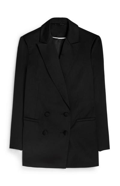Black Satin Tuxedo Jacket