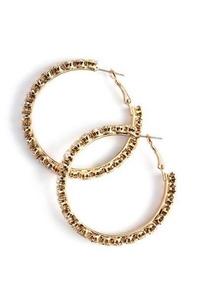 Large Diamante Hoops