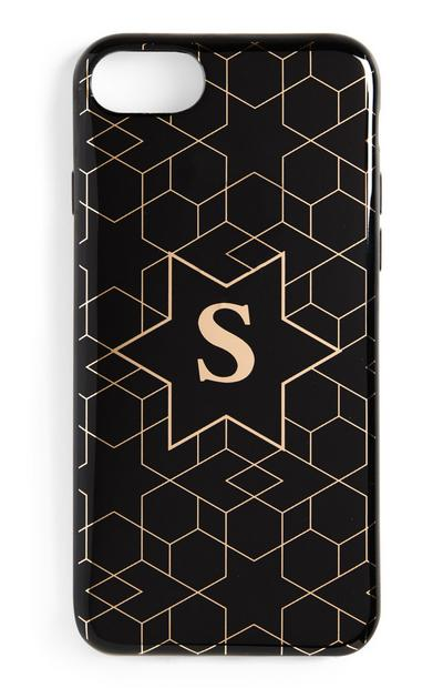 Black Initial Phone Case