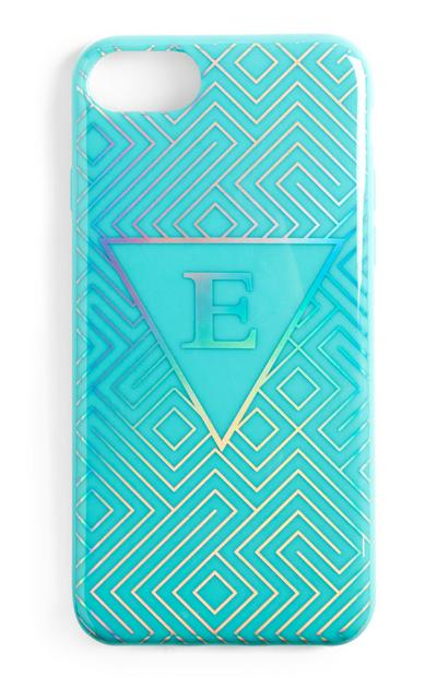 Blue Initial Phone Case