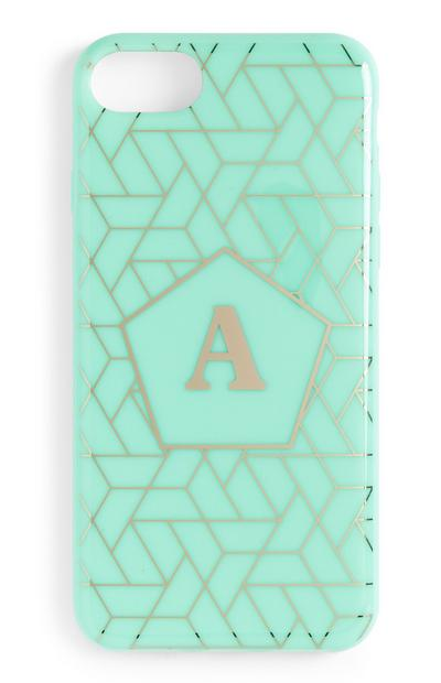 Mint Initial Phone Case