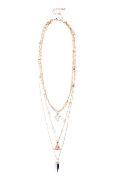 Mehrreihige Halskette in Schwarz