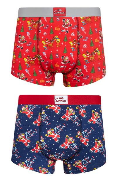 The Simpsons Christmas Boxer 2Pk
