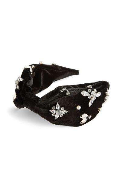 Velvet Diamante Headband