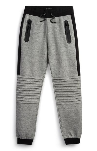 Older Boy Grey Textured Jogger