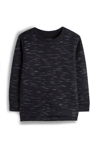 Younger Boy Charcoal Marl Sweatshirt