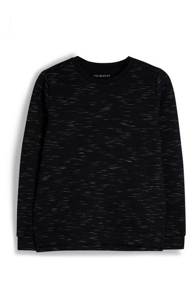 Older Boy Black Marl Sweatshirt