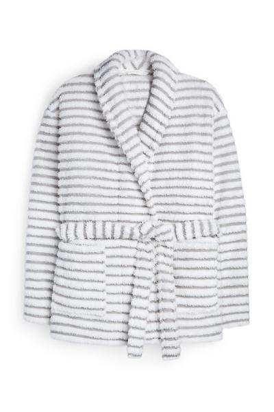 Grey Stripe Short Robe