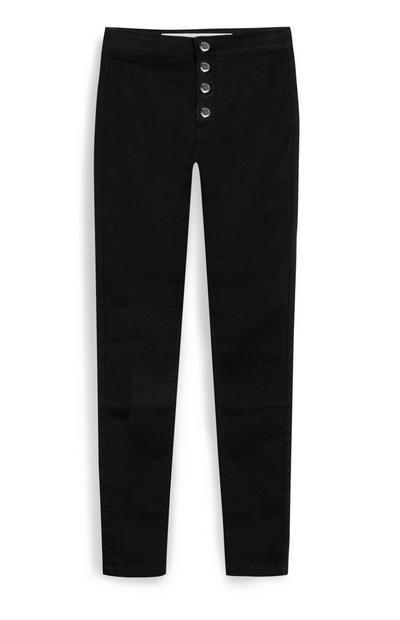 Older Girl Black Button Up Jeans