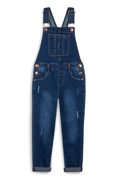Younger Girl Indigo Denim Dungarees