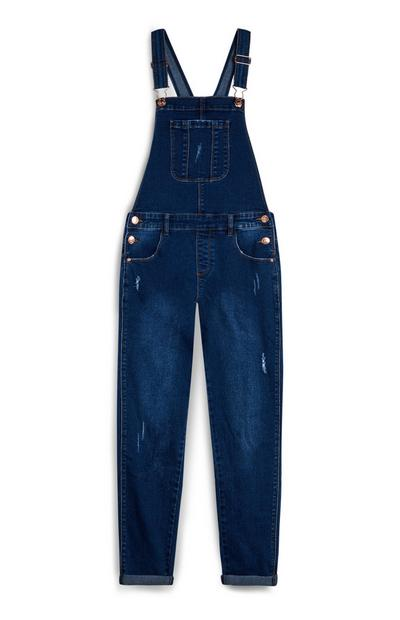 Older Girl Denim Indigo Dungarees