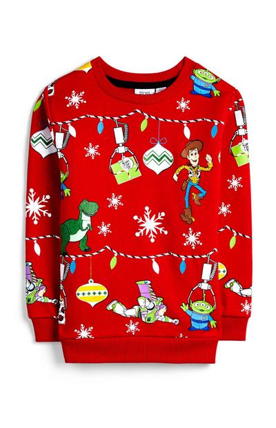 Baby Boy Red Toy Story Christmas Jumper