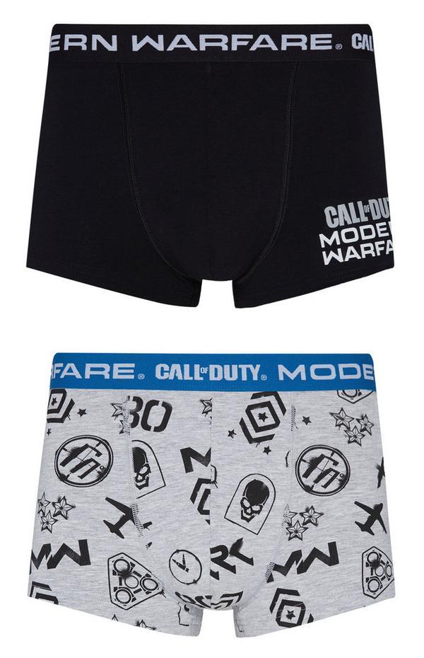 "Grau-schwarze ""Call Of Duty Modern Warfare"" Boxershorts, 2er-Pack"