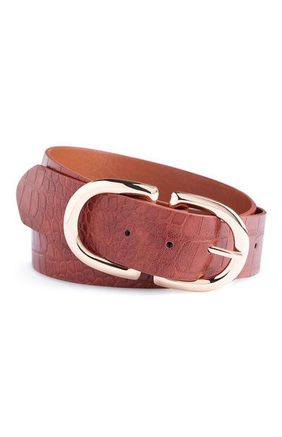 Burnt Orange Chunky Belt