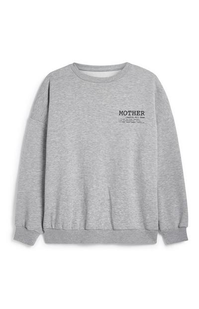 Grey Mother Crew Neck Jumper