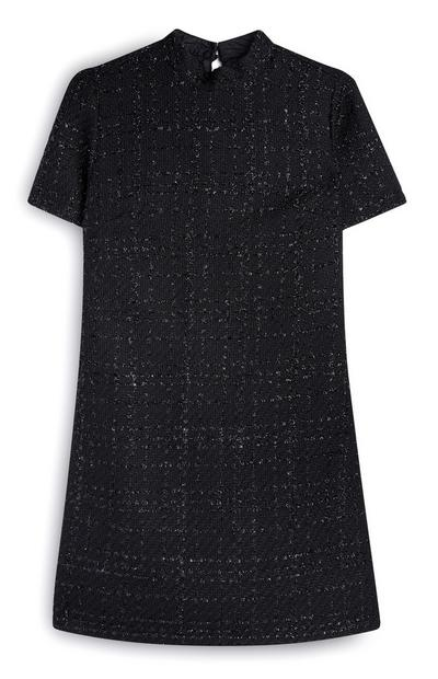 Black Shimmery Boucle Tunic
