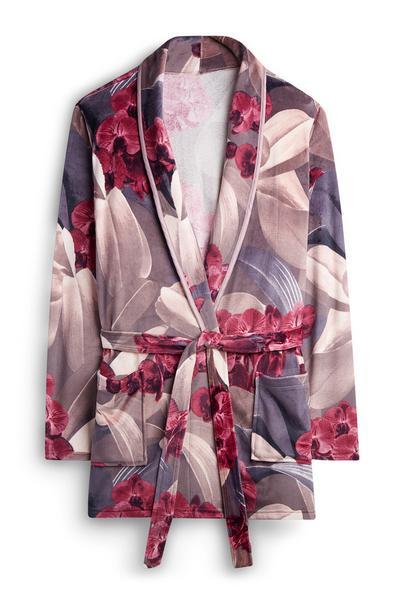 Velour Floral Robe