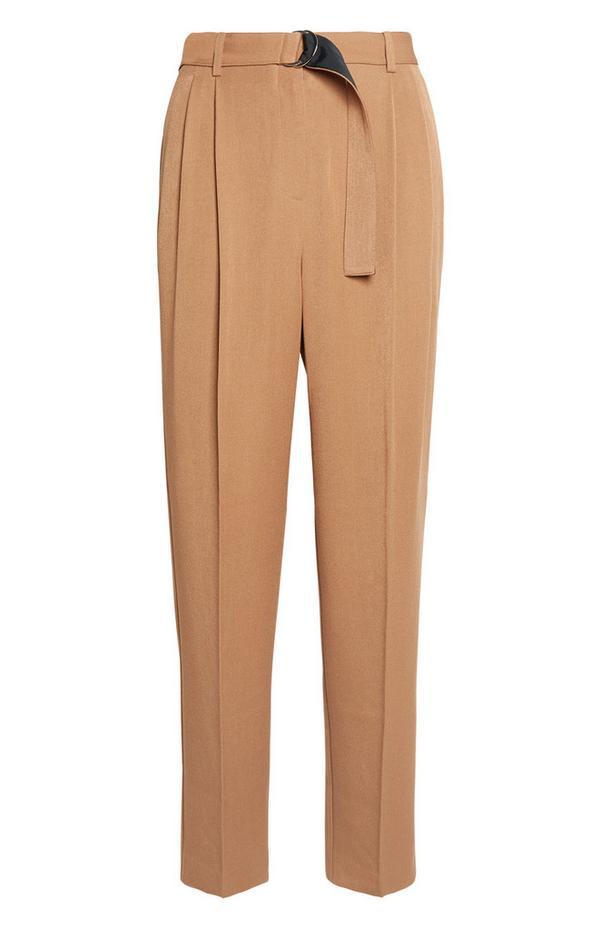 Camel Belted Trouser