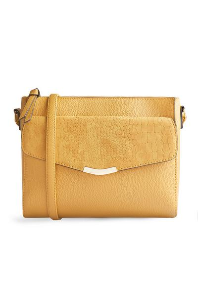 Mustard Front Pocket Cross Body Bag