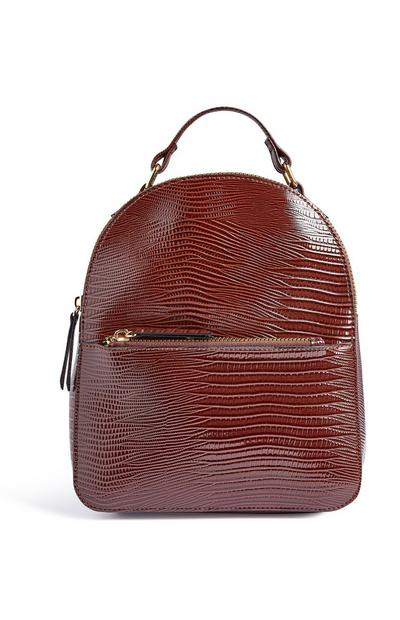 Brown Croc Backpack