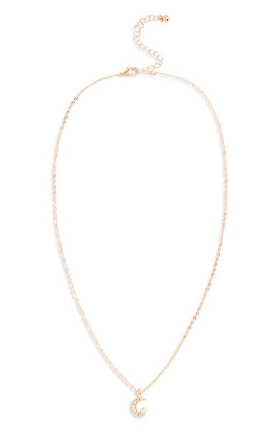 Diamante Moon Necklace