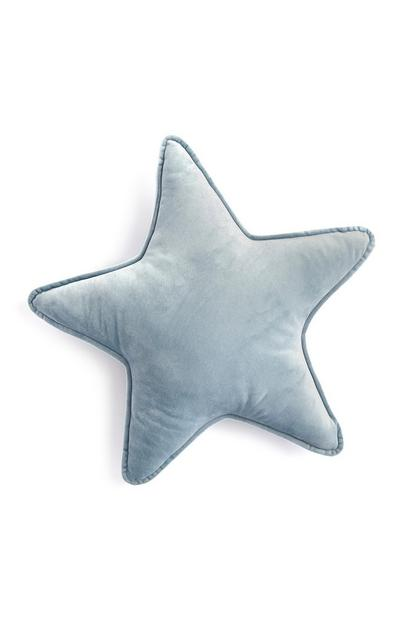 Grey Piped Edge Star Cushion