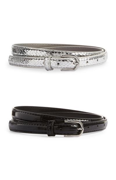 Skinny Belts 2Pk