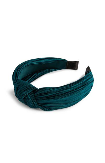 Satin Green Knot Headband