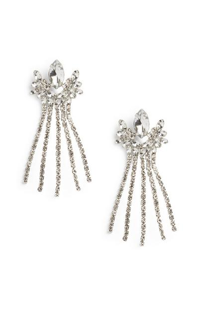 Diamante Gem Drop Earrings