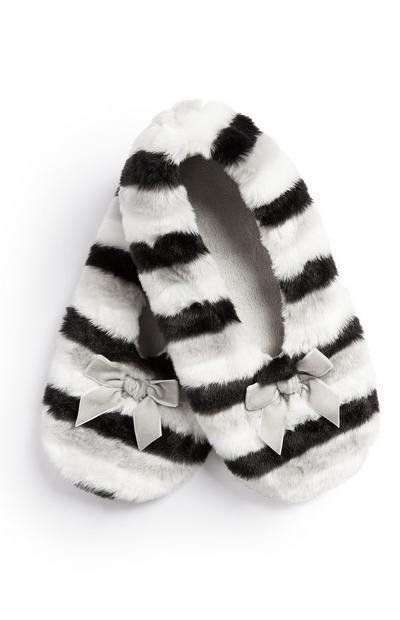 Striped Fluffy Slipper Sock