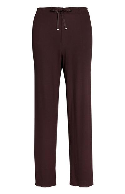 Burgundy Jersey Lounge Trousers