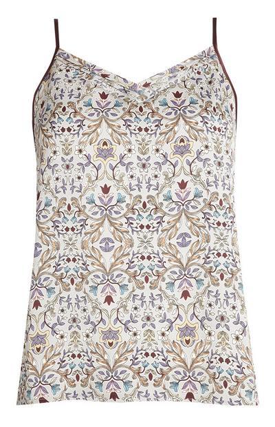 Floral Pyjama Cami Shirt