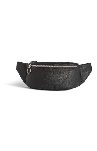 Black Zip Bumbag