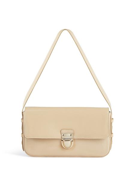 Cream Patent Bag