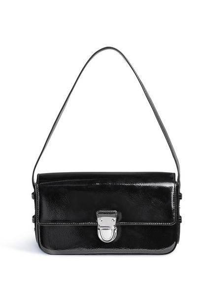 Black Patent Shoulder Bag