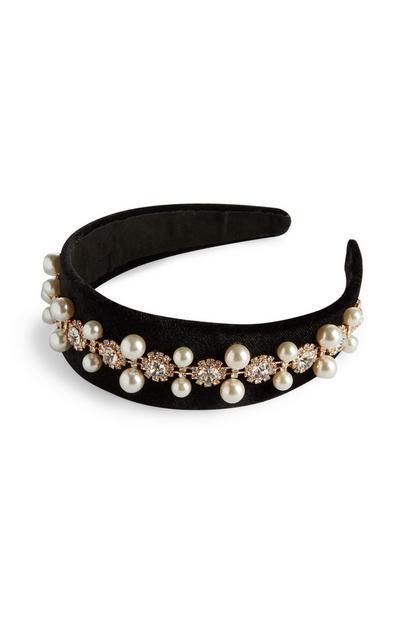 Velvet Diamante Headband
