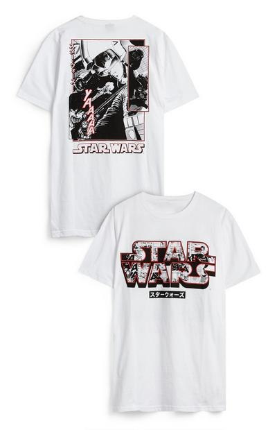 White Star Wars The Rise Of Skywalker Cast Photograph T-Shirt