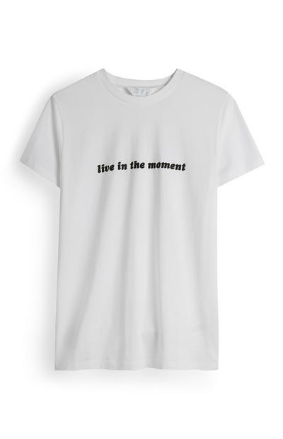 White Live In The Moment T-Shirt